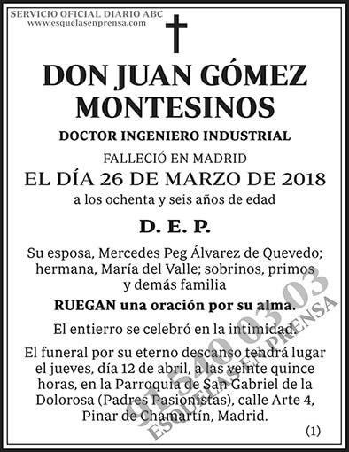 Juan Gómez Montesinos